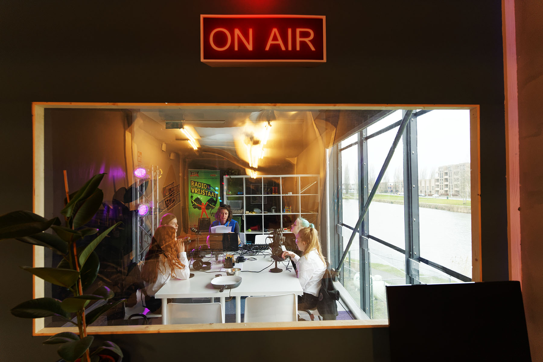Radio Vrijstaat radiostudio