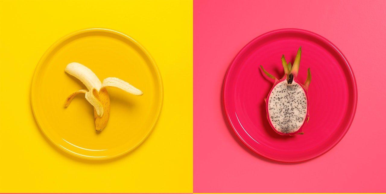 Banaan en Dragonfruit kunst